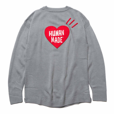 Human Made Heart Knit Gray, Knits