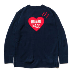 Human Made Heart Knit Navy, Knits