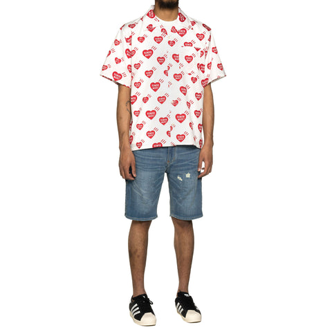 Human Made Heart Pattern Aloha Shirt White, Shirts