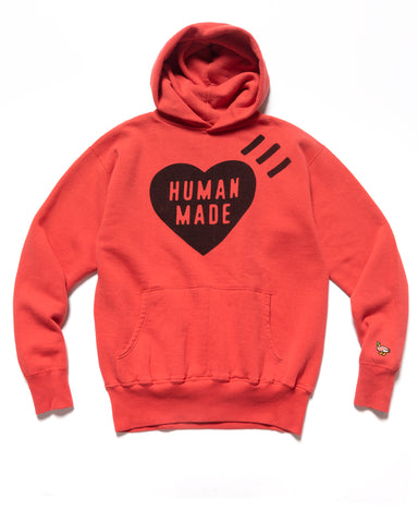 Human Made Hooded Sweatshirt Red, Sweaters