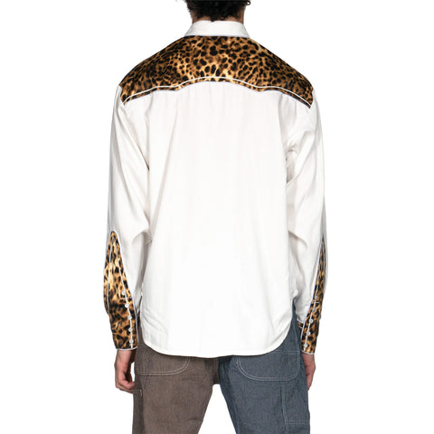 Human Made Leopard Western Shirt White, Tops