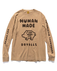 Human Made Long-T #4 Beige, T-Shirts
