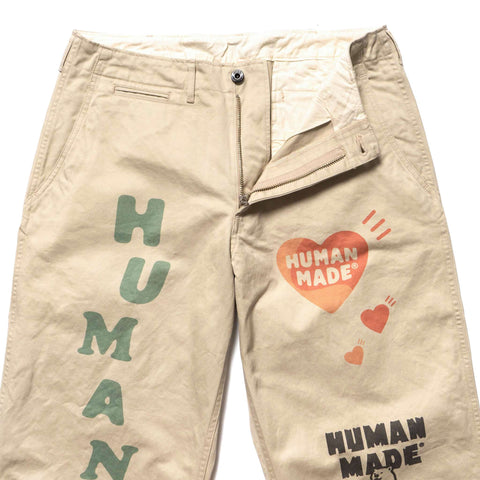 Human Made Military Print Chino Beige, Bottoms