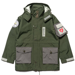 Human Made Military Rain Jacket Olive Drab, Jackets