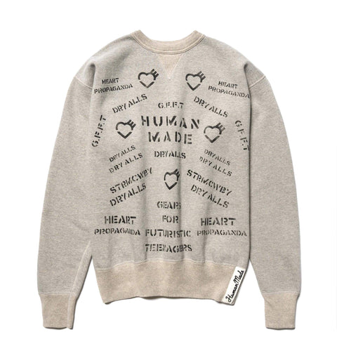 Human Made Military Sweatshirt Gray, Sweaters