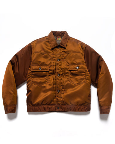 Human Made Padded Nylon Work Jacket Brown, Outerwear