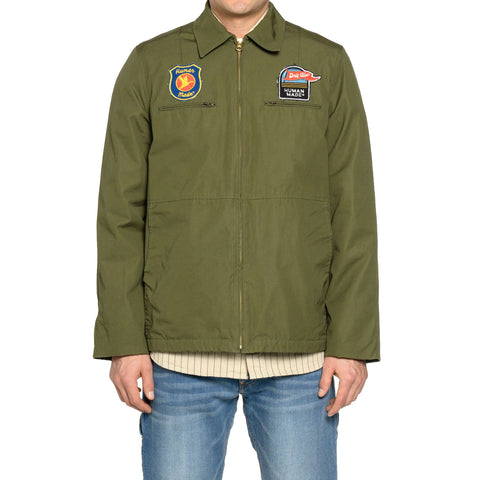 Human Made Patch Jacket Olive Drab, Outerwear