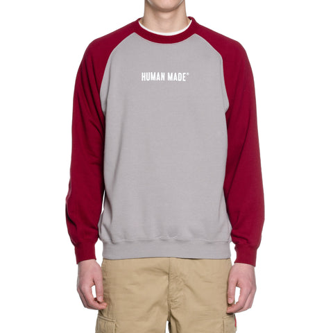 Human Made Raglan Sweatshirt Burgundy, Sweaters
