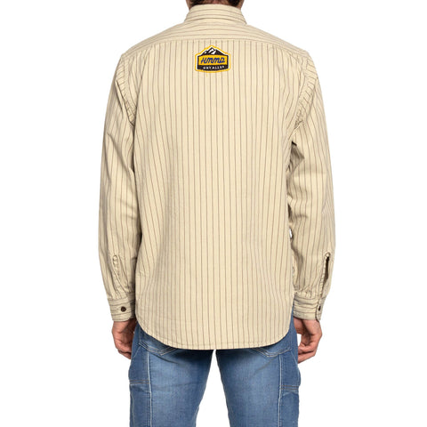 Human Made Stripe Work Shirt Beige, Tops