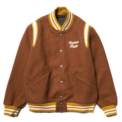 Human Made Varsity Jacket Brown, Outerwear