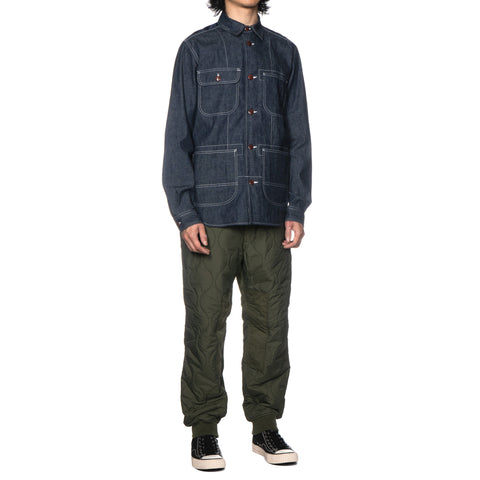junya watanabe man Cotton Chambray x Wool Tweed Black x White x Gray