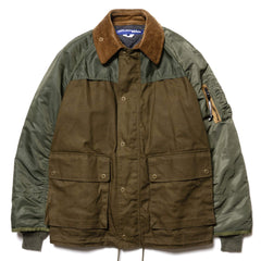 JUNYA WATANABE MAN Cotton Duck Paraffin x Polyester Twill Khaki x Green, Jackets