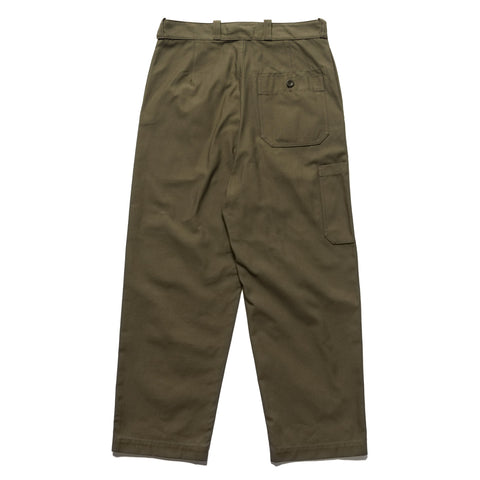 Junya Watanabe MAN eYe Cotton Nylon Back Satin Baker Pant Khaki, Bottoms