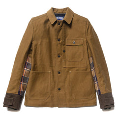 Cotton Pique x Wool Tweed Jacket Beige/Brown