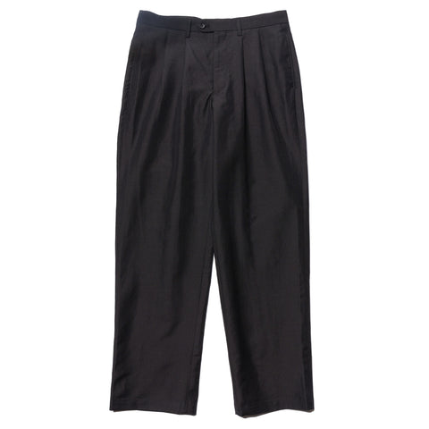 Junya Watanabe MAN Pleated Wool Ramie Poplin Pant Black, Bottoms