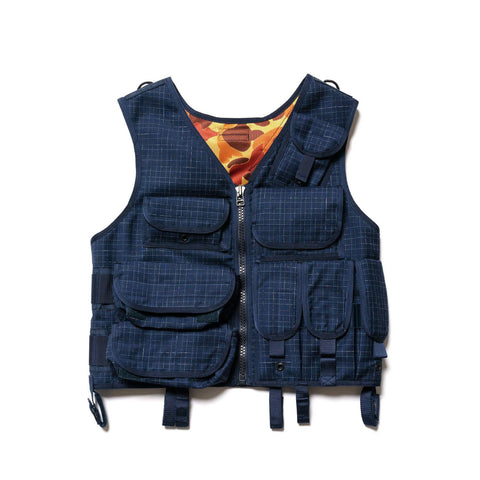 Junya Watanabe MAN Wool Check Vest Navy/White, Vests