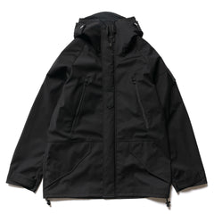 Junya Watanabe MAN Wool Polyester Stripe Laminated Water Repellent Jacket Black, Jackets
