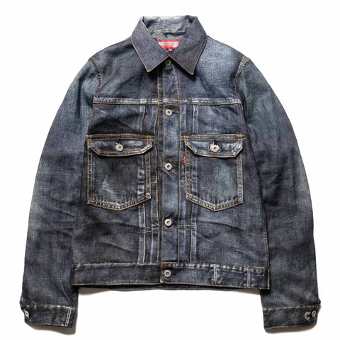 Junya Watanabe MAN eYe x Levis Linen Canvas Print Denim Jacket Indigo, Jackets