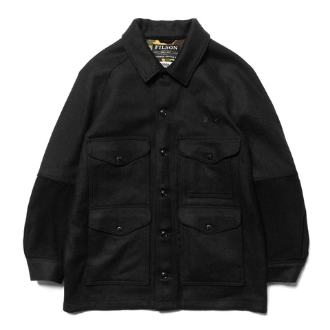 Junya Watanabe MAN eYe x Filson Leather Elbow Patch Wool Coat Black, Jackets