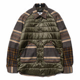 eYe x Pendleton Wool Patch Nylon Body Shirt Jacket Olive