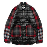 eYe x Pendleton Wool Patch Nylon Body Shirt Jacket Red