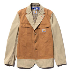 Junya Watanabe MAN x Carhartt W's Cotton Duck x Cotton Canvas Jacket Khaki/Brown, Outerwear