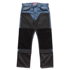 Junya Watanabe MAN x Levi's Customized Wool Tweed Corduroy Denim Indigo, Bottoms