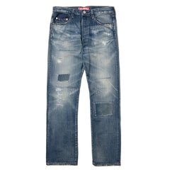 JUNYA WATANABE MAN x Levi's 501 1947 Cotton Selvedge Denim Model Customized Indigo, Bottoms