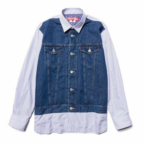 Junya Watanabe MAN x Levi 's Cotton Linen Denim Stripe Top, Shirts