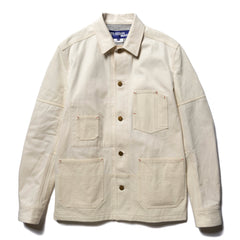 Junya Watanabe MAN Cotton Canvas Work Jacket Natural, Outerwear