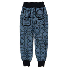 KAPITAL Do-Gi Sashiko Fleecy Knit Beach Sweat Pants Blue, Bottoms