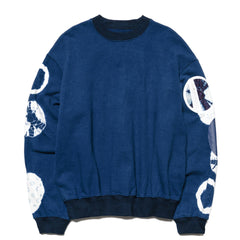 KAPITAL Fleecy Knit IDG Shibori T.B. Pocket Big Sweat Shirt IDG, Sweaters