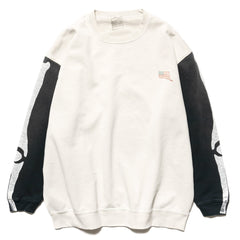 KAPITAL KOUNTRY Fleecy Knit 2Tone Sleep Remake Big Swt (BONE) BNA (A), Sweaters