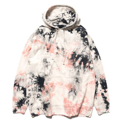 KAPITAL KOUNTRY Tie-Dye Hoodie SWT (Elbow Smile) Black x Pink, Sweaters