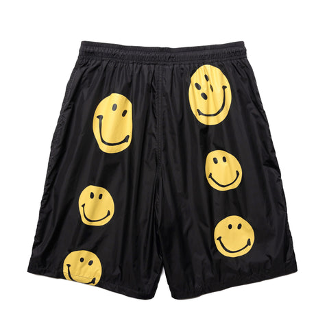 KAPITAL Rayon Nylon Swim Trunks (RAIN SMILE) Black, Bottoms