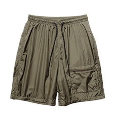KAPITAL Rayon Nylon Swim Trunks (RAIN SMILE) Khaki, Bottoms