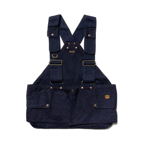 Kapital 10oz IDGxIDG Denim Fishing Vest Indigo, Outerwear