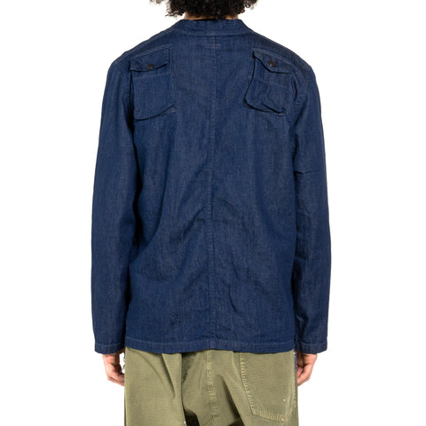 Kapital 8oz Denim Fishing Kimono Shirt One Wash, Tops