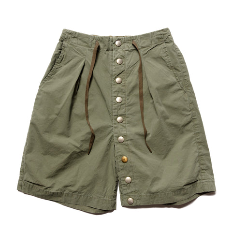 KAPITAL Cotton Dump Cotton Surf Cowboy Short Pants Khaki, Bottoms