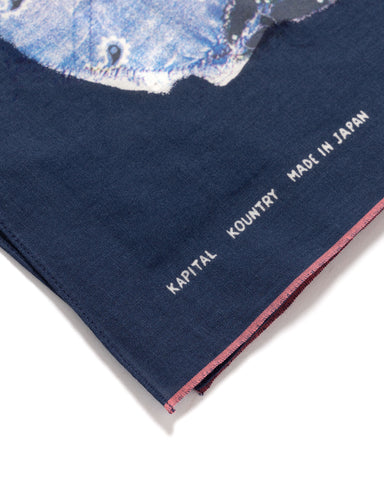 Kapital Fastcolor Selvedge Bandana BANDANA Patchwork Navy, Accessories