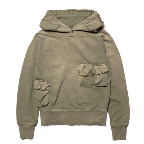 KAPITAL Fleecy Knit Alpine Hooded SWT Khaki, Sweaters