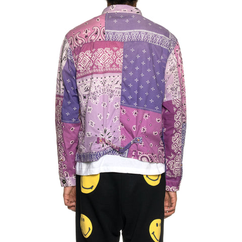 KAPITAL Gauze Bandana Patchwork 1st JKT Light Purple, Outerwear