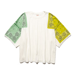 KAPITAL Jersey Bandana HUGE-T (Lightning) Lime, T-Shirts