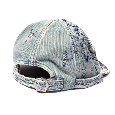 Kapital Kountry 11.5oz Denim KOLA Cap (CRASH Remake) Indigo, Headwear
