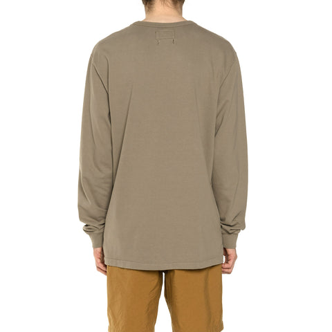 HAVEN Garment Dyed L/S - Cotton Jersey Bark, T-Shirts
