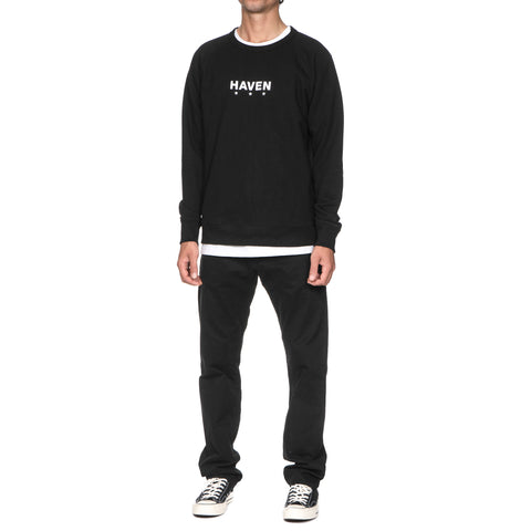 HAVEN Core Logo Crewneck Sweater Black/White