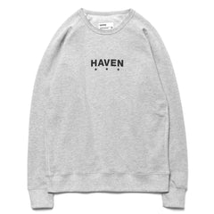 HAVEN Core Logo Crewneck Sweater Heather Gray