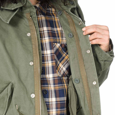 HAVEN Overdyed Twill M-51 Fishtail Parka Olive