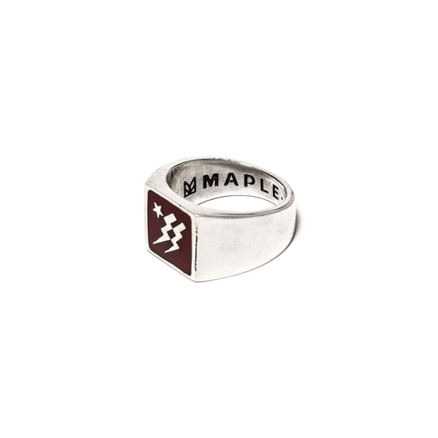MAPLE Lightning Ring Red/Silver 925, Accessories