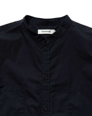 nonnative Master Big Shirt Cotton Satin Navy, Shirts